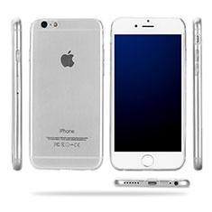 Custodia Silicone Trasparente Ultra Sottile Morbida T09 per Apple iPhone 6 Chiaro