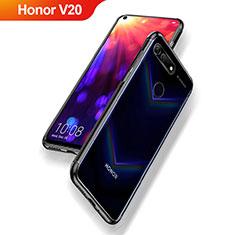 Custodia Silicone Trasparente Ultra Sottile Morbida T09 per Huawei Honor V20 Nero