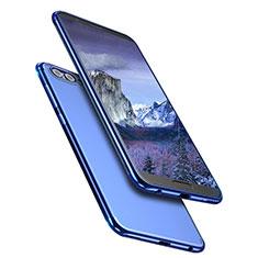 Custodia Silicone Trasparente Ultra Sottile Morbida T09 per Huawei Honor View 10 Blu