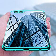 Custodia Silicone Trasparente Ultra Sottile Morbida T09 per Huawei Nova 2S Blu