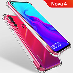 Custodia Silicone Trasparente Ultra Sottile Morbida T09 per Huawei Nova 4 Chiaro