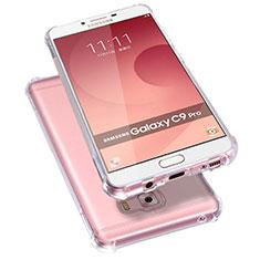 Custodia Silicone Trasparente Ultra Sottile Morbida T09 per Samsung Galaxy C9 Pro C9000 Chiaro