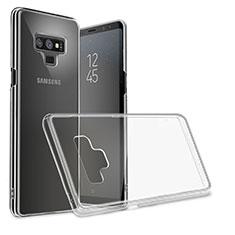 Custodia Silicone Trasparente Ultra Sottile Morbida T09 per Samsung Galaxy Note 9 Nero