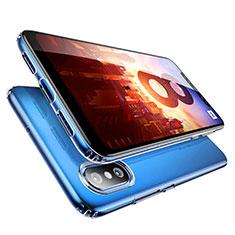 Custodia Silicone Trasparente Ultra Sottile Morbida T09 per Xiaomi Mi 8 Chiaro