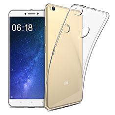 Custodia Silicone Trasparente Ultra Sottile Morbida T09 per Xiaomi Mi Max 2 Chiaro