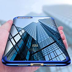 Custodia Silicone Trasparente Ultra Sottile Morbida T09 per Xiaomi Mi Note 3 Blu