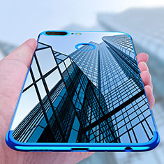 Custodia Silicone Trasparente Ultra Sottile Morbida T10 per Huawei Honor 9 Lite Blu