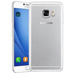 Custodia Silicone Trasparente Ultra Sottile Morbida T10 per Samsung Galaxy C9 Pro C9000 Chiaro