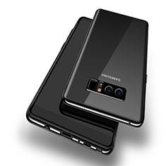 Custodia Silicone Trasparente Ultra Sottile Morbida T10 per Samsung Galaxy Note 8 Duos N950F Nero