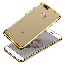 Custodia Silicone Trasparente Ultra Sottile Morbida T10 per Xiaomi Mi 5X Oro