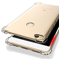 Custodia Silicone Trasparente Ultra Sottile Morbida T10 per Xiaomi Mi Max 2 Chiaro