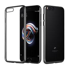 Custodia Silicone Trasparente Ultra Sottile Morbida T10 per Xiaomi Mi Note 3 Nero