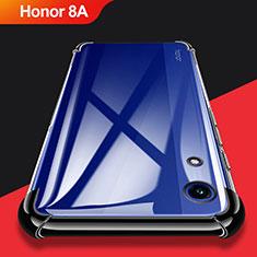 Custodia Silicone Trasparente Ultra Sottile Morbida T11 per Huawei Honor 8A Nero