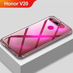 Custodia Silicone Trasparente Ultra Sottile Morbida T11 per Huawei Honor View 20 Chiaro