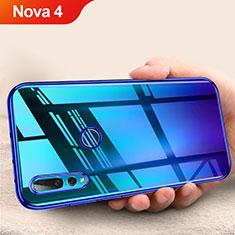 Custodia Silicone Trasparente Ultra Sottile Morbida T11 per Huawei Nova 4 Blu
