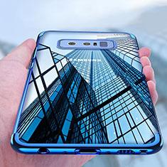 Custodia Silicone Trasparente Ultra Sottile Morbida T11 per Samsung Galaxy Note 8 Duos N950F Blu