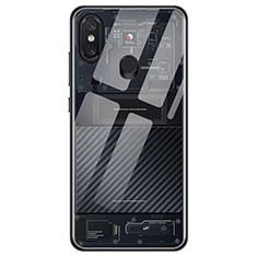 Custodia Silicone Trasparente Ultra Sottile Morbida T11 per Xiaomi Mi 8 Nero