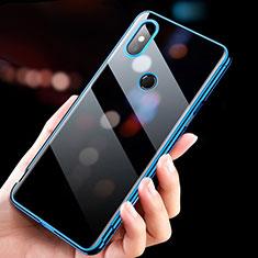 Custodia Silicone Trasparente Ultra Sottile Morbida T11 per Xiaomi Mi Mix 3 Blu
