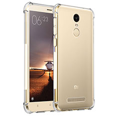 Custodia Silicone Trasparente Ultra Sottile Morbida T11 per Xiaomi Redmi Note 3 Chiaro