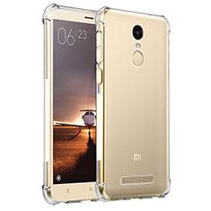 Custodia Silicone Trasparente Ultra Sottile Morbida T11 per Xiaomi Redmi Note 3 Pro Chiaro