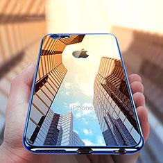 Custodia Silicone Trasparente Ultra Sottile Morbida T12 per Apple iPhone 6 Plus Blu