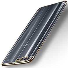 Custodia Silicone Trasparente Ultra Sottile Morbida T12 per Huawei Honor 9 Oro