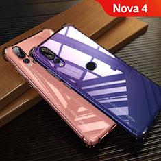 Custodia Silicone Trasparente Ultra Sottile Morbida T12 per Huawei Nova 4 Rosso