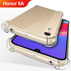 Custodia Silicone Trasparente Ultra Sottile Morbida T12 per Huawei Y6 Pro (2019) Chiaro