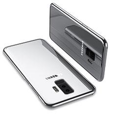 Custodia Silicone Trasparente Ultra Sottile Morbida T12 per Samsung Galaxy S9 Plus Argento