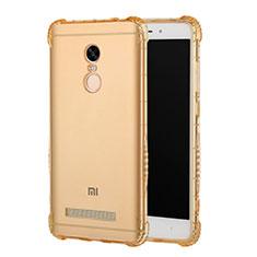 Custodia Silicone Trasparente Ultra Sottile Morbida T12 per Xiaomi Redmi Note 3 Oro