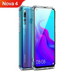 Custodia Silicone Trasparente Ultra Sottile Morbida T14 per Huawei Nova 4 Rosso