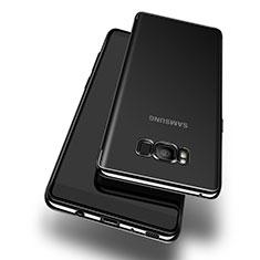 Custodia Silicone Trasparente Ultra Sottile Morbida T14 per Samsung Galaxy S8 Nero