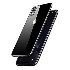 Custodia Silicone Trasparente Ultra Sottile Morbida T15 per Apple iPhone XR Nero