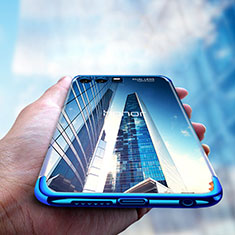 Custodia Silicone Trasparente Ultra Sottile Morbida T15 per Huawei Honor 9 Blu