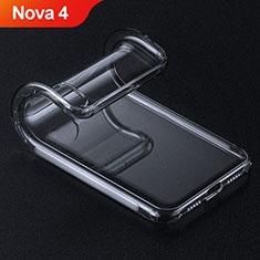 Custodia Silicone Trasparente Ultra Sottile Morbida T15 per Huawei Nova 4 Rosso