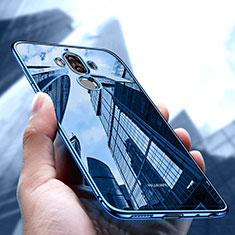 Custodia Silicone Trasparente Ultra Sottile Morbida T17 per Huawei Mate 9 Blu