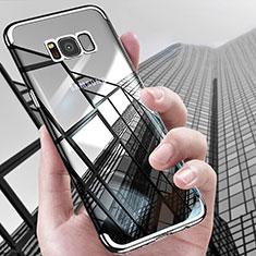 Custodia Silicone Trasparente Ultra Sottile Morbida T17 per Samsung Galaxy S8 Plus Argento