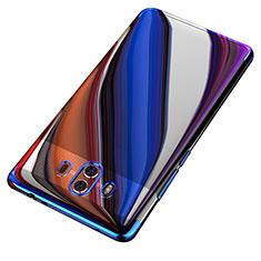 Custodia Silicone Trasparente Ultra Sottile Morbida T18 per Huawei Mate 10 Blu