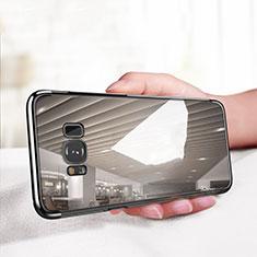 Custodia Silicone Trasparente Ultra Sottile Morbida T18 per Samsung Galaxy S8 Nero