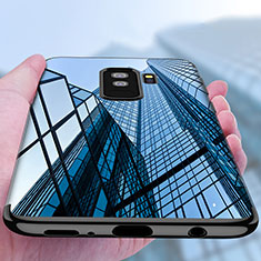 Custodia Silicone Trasparente Ultra Sottile Morbida T18 per Samsung Galaxy S9 Plus Nero