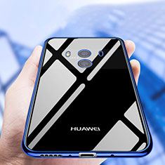 Custodia Silicone Trasparente Ultra Sottile Morbida T19 per Huawei Mate 10 Blu