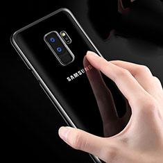 Custodia Silicone Trasparente Ultra Sottile Morbida T23 per Samsung Galaxy S9 Plus Bianco