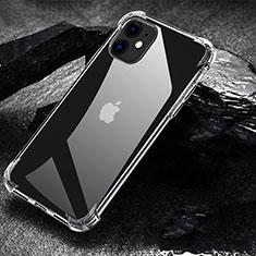 Custodia Silicone Trasparente Ultra Sottile Morbida U01 per Apple iPhone 11 Chiaro