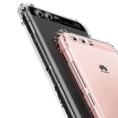 Custodia Silicone Trasparente Ultra Sottile Morbida U01 per Huawei P10 Chiaro