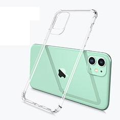 Custodia Silicone Trasparente Ultra Sottile Morbida U03 per Apple iPhone 11 Chiaro