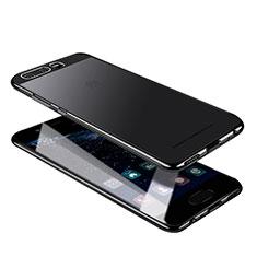Custodia Silicone Trasparente Ultra Sottile Morbida U05 per Huawei P10 Nero