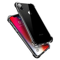 Custodia Silicone Trasparente Ultra Sottile Morbida V10 per Apple iPhone Xs Max Chiaro