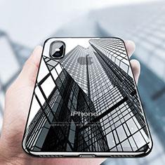 Custodia Silicone Trasparente Ultra Sottile Morbida V12 per Apple iPhone Xs Max Nero