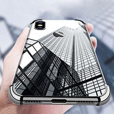 Custodia Silicone Trasparente Ultra Sottile Morbida V14 per Apple iPhone X Nero