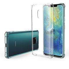 Custodia Silicone Trasparente Ultra Sottile Morbida Z01 per Huawei Mate 20 Pro Chiaro